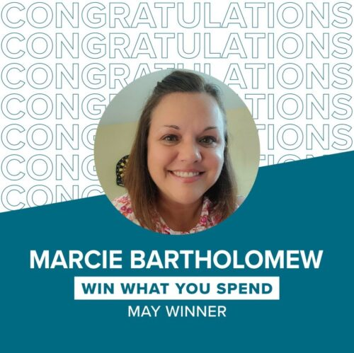 Marcie Bartholomew Win What You Spend May Winner
